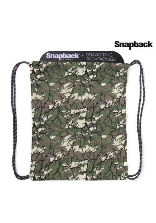 Drawstring Backpack Army Forest