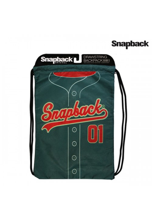 Drawstring Backpack Green 01