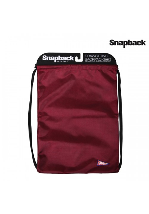 Drawstring Backpack Maroon