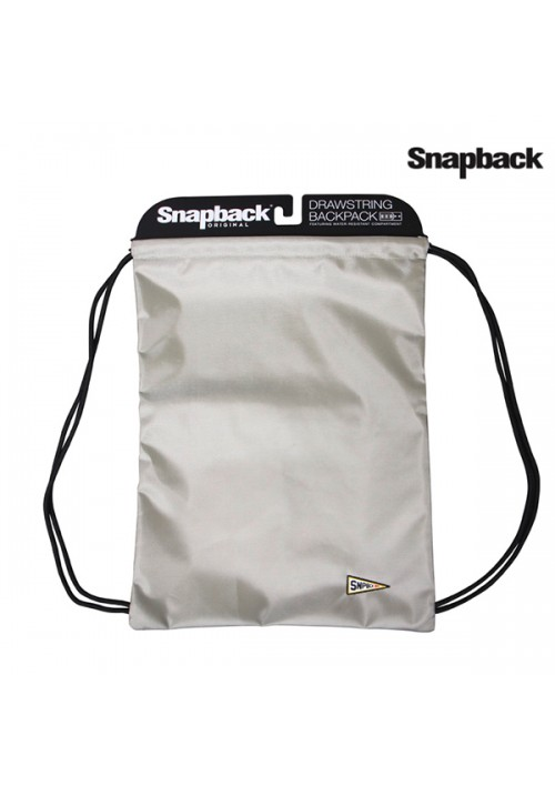 Drawstring Backpack Silver