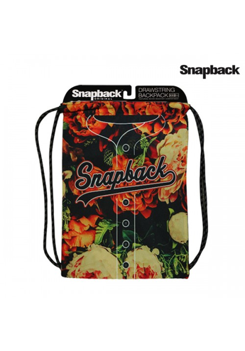 Drawstring Backpack Snapback Flower