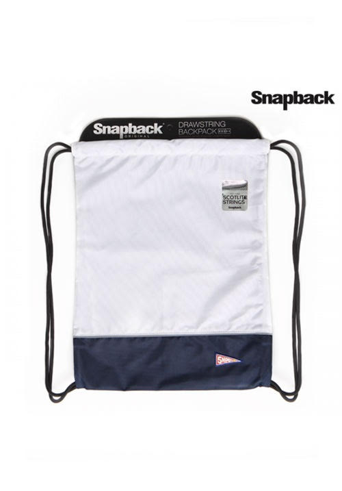 Drawstring White Dark Blue