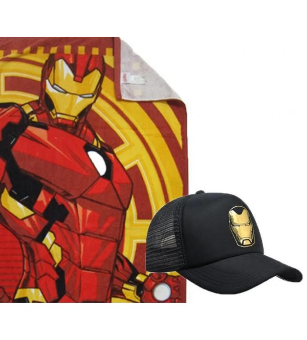 Marvel Towel and Caps - Iron Man