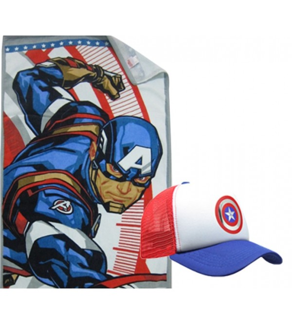 Marvel Towel and Caps - Capten America