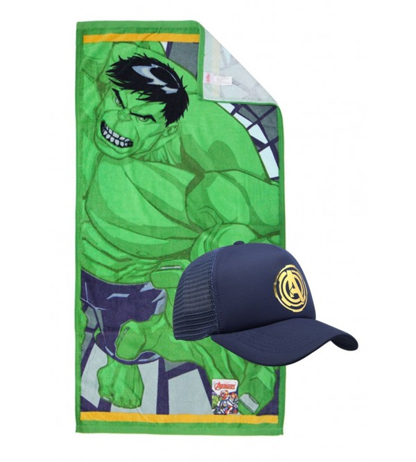 Marvel Towel and Caps - Hulk