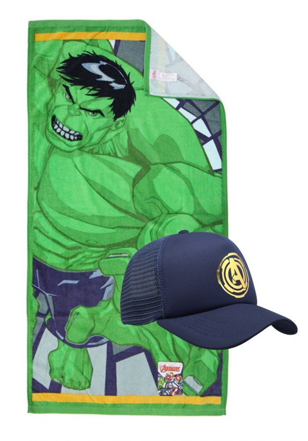 new concept cfeb5 5c3e4 Marvel Towel and Caps - Hulk