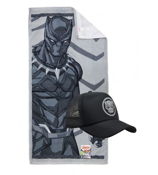 Marvel Towel and Caps - Black Panther
