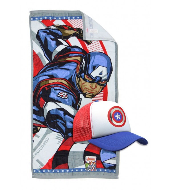 Marvel Towel and Caps - Captain America