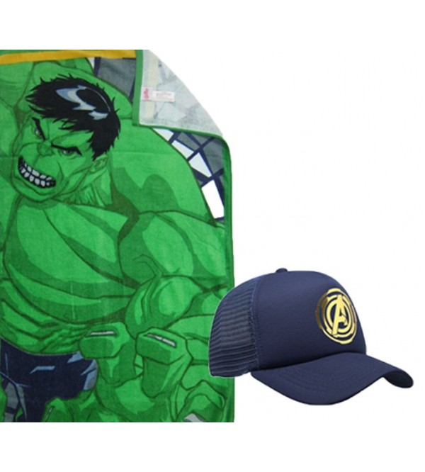 Marvel Towel and Caps - Hulk